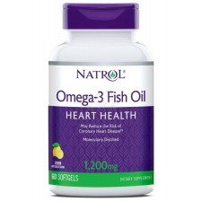 Natrol   Omega-3 Fish Oil 1200 mg  (60 гелевых капсул)